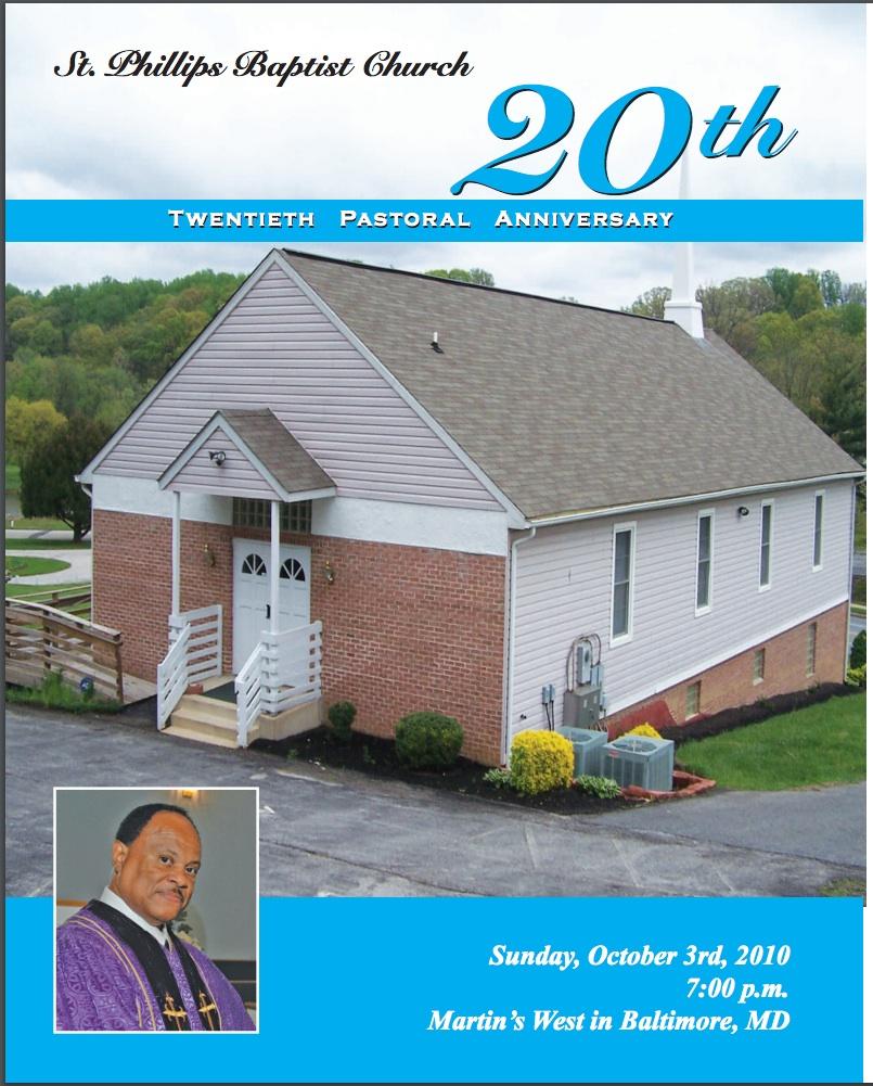 20th Pastoral Anniversary Cover